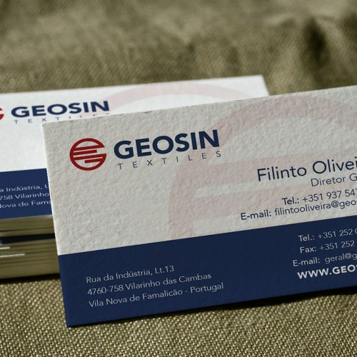 Business Cards Geosin Textiles