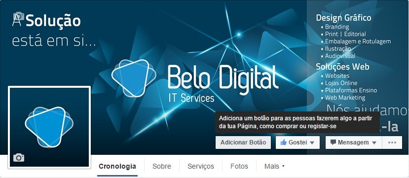 Belo Digital Página do Facebook da Belo Digital