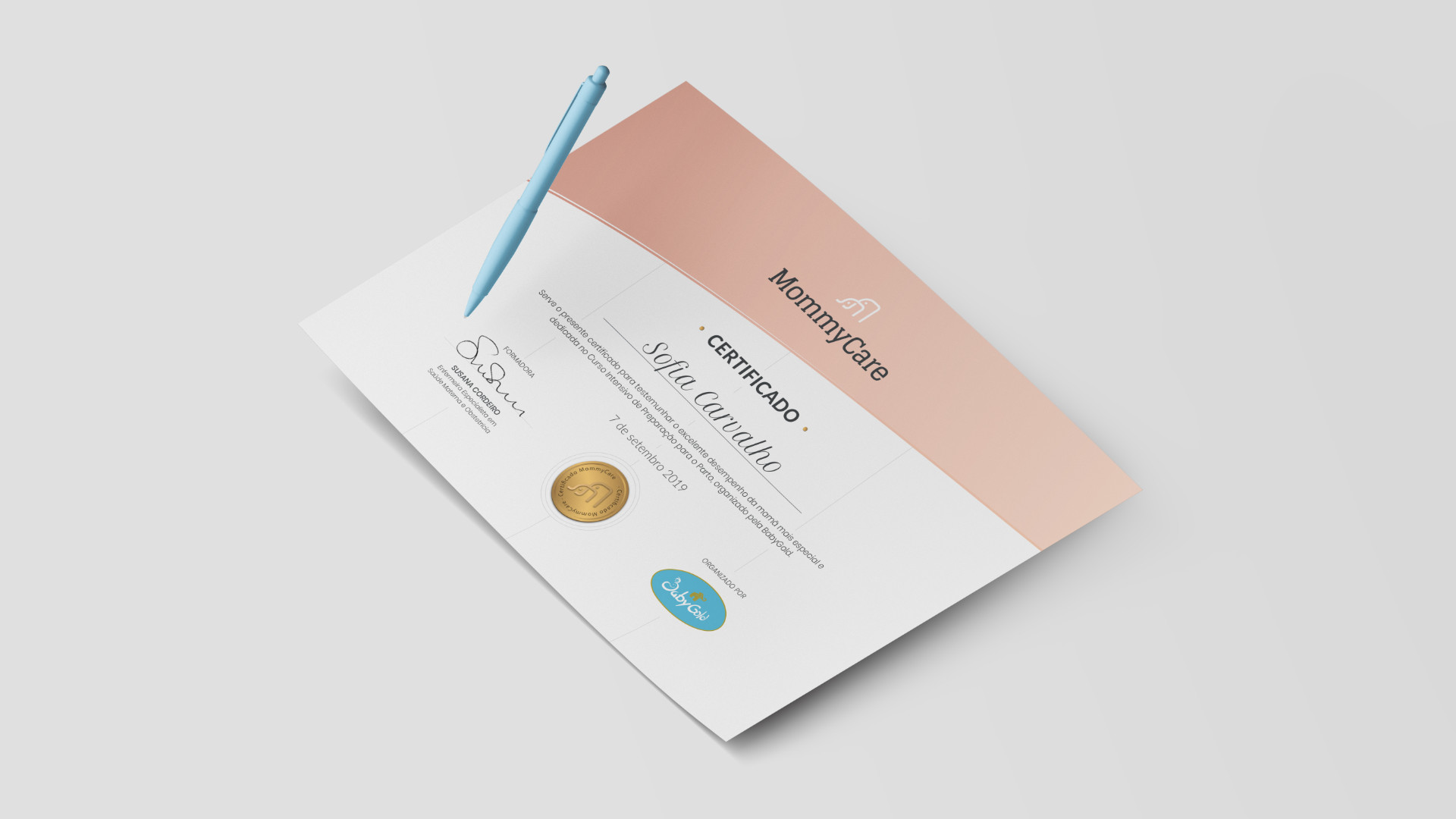 Certificado da MommyCare