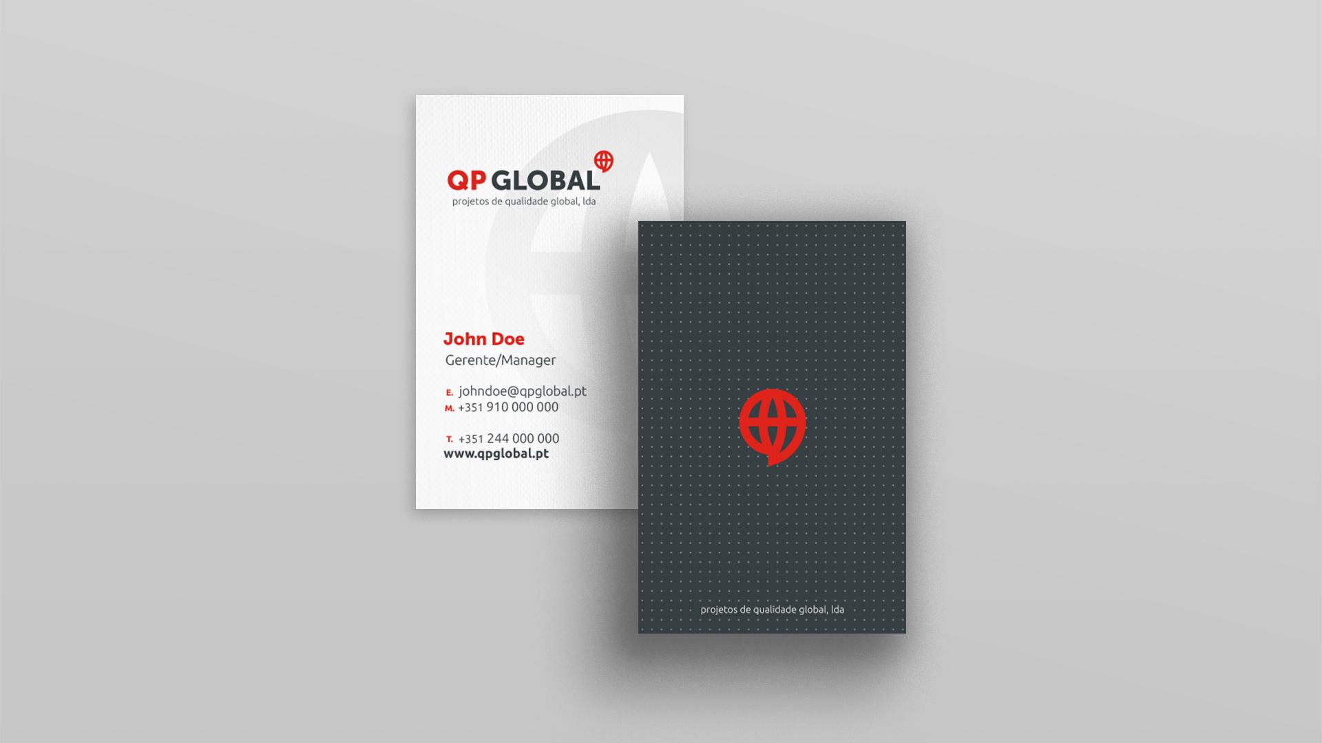 Cartão-de-visita da QPGlobal