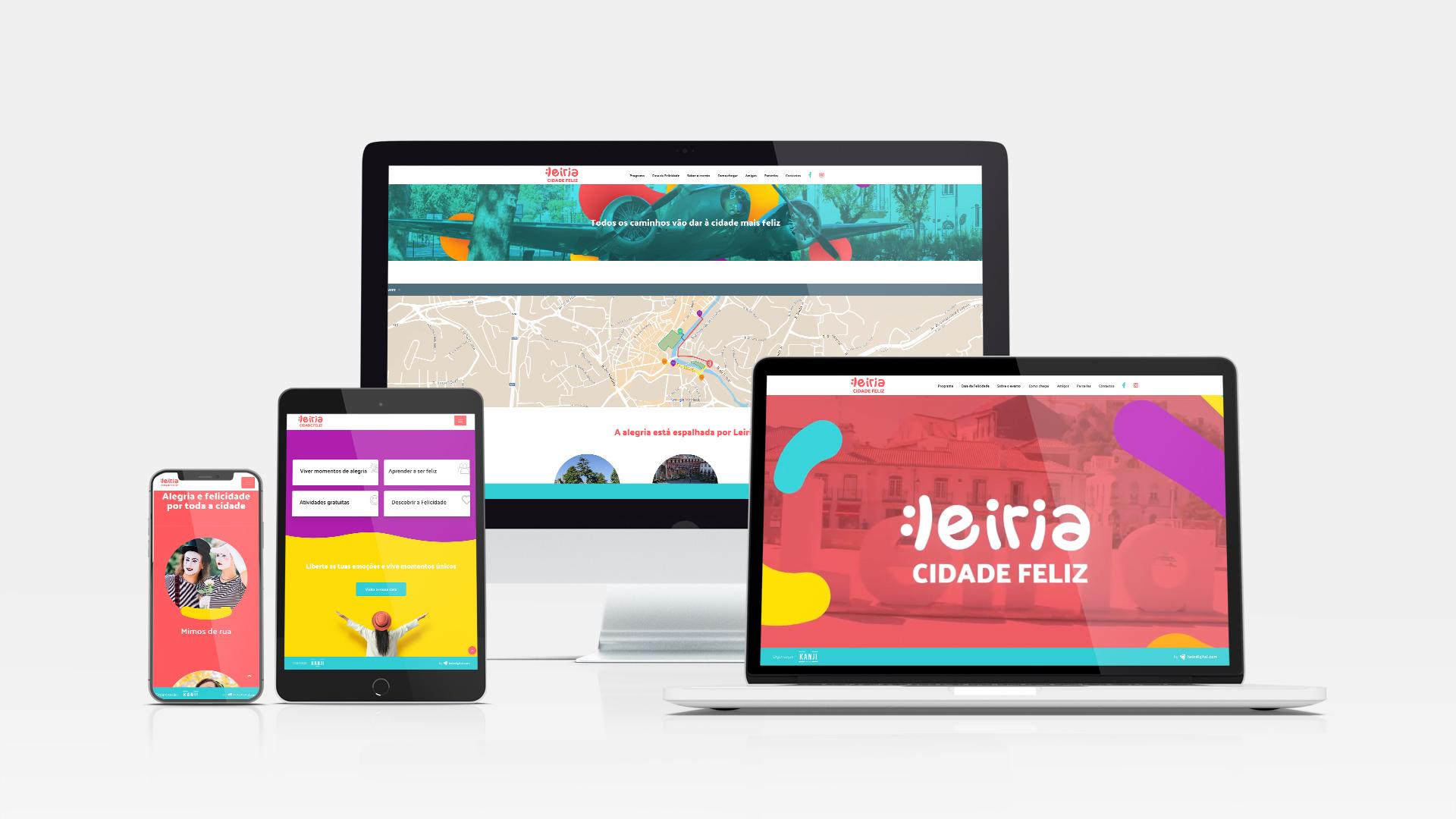 Website Leiria Cidade Feliz